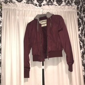 Garage Hoodie illusion Maroon Winter Jacket ❄️
